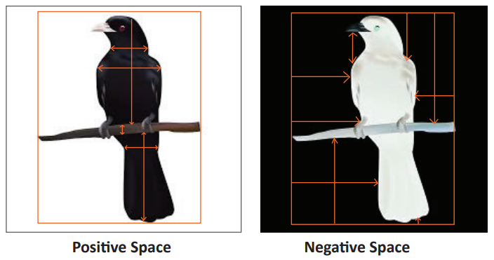 crow positive and negative space